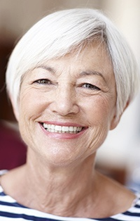 Older woman with healthy teeth
