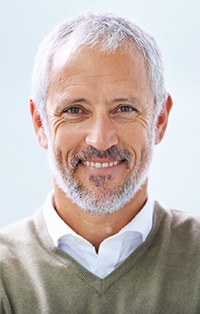 Man with healthy natural looking dentures