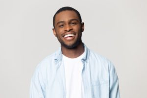 Man with beautiful smile thanks to porcelain veneers in Southlake