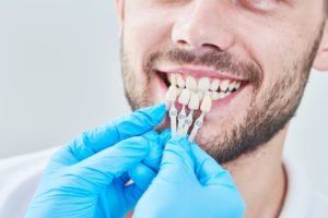 dentist preparing patient for cosmetic dentistry